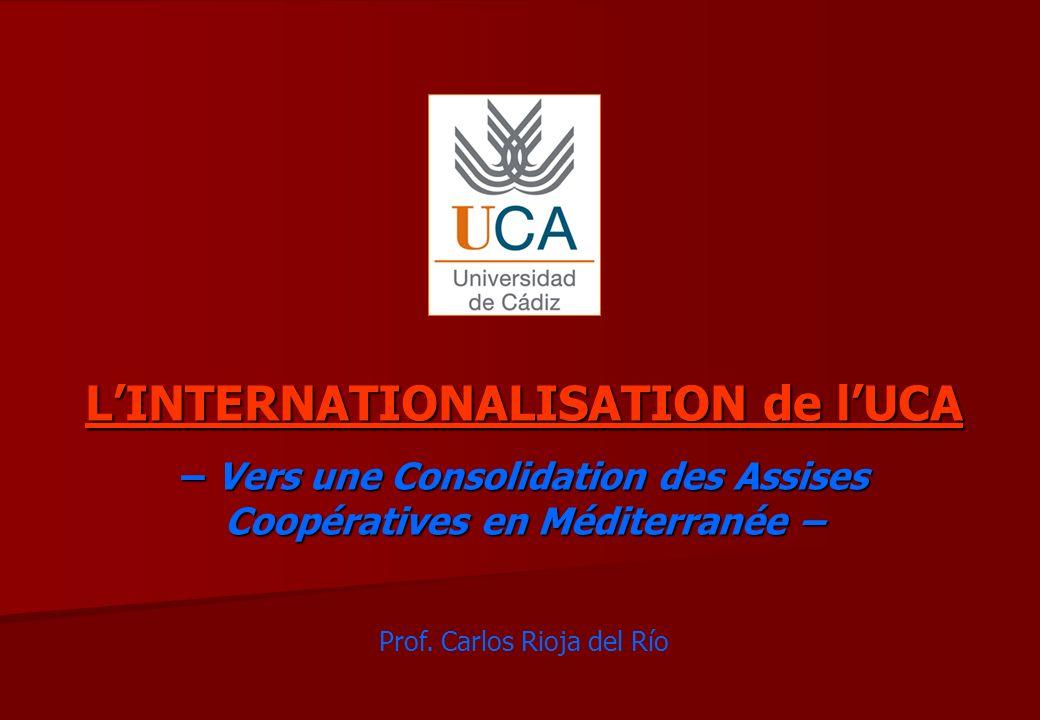 LINTERNATIONALISATION de lUCA – Vers une Consolidation des Assises Coopératives en Méditerranée – Prof.