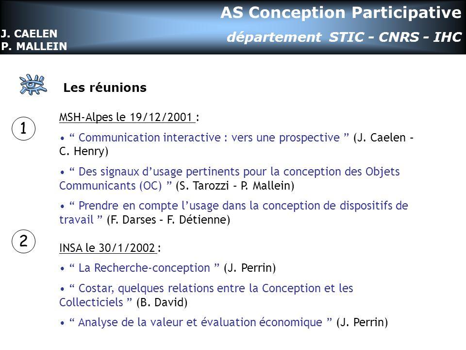 Les réunions MSH-Alpes le 19/12/2001 : Communication interactive : vers une prospective (J.