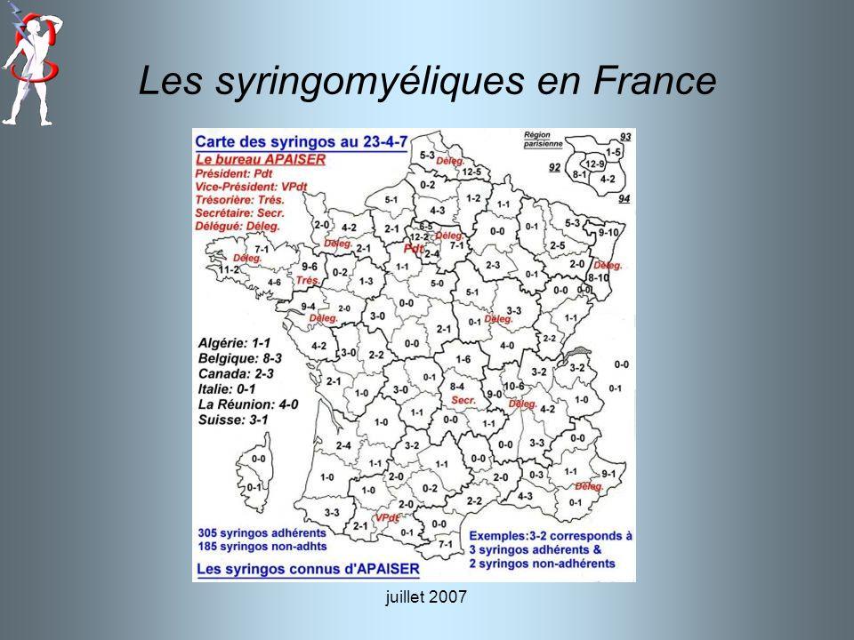 juillet 2007 Les syringomyéliques en France