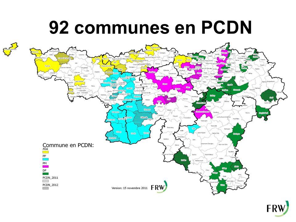 92 communes en PCDN