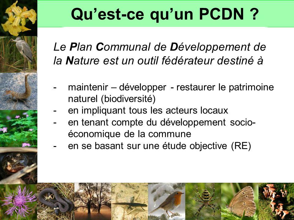 Quest-ce quun PCDN ? Le Plan Communal de Développement de la Nature est un outil fédérateur destiné à -maintenir – développer - restaurer le patrimoin