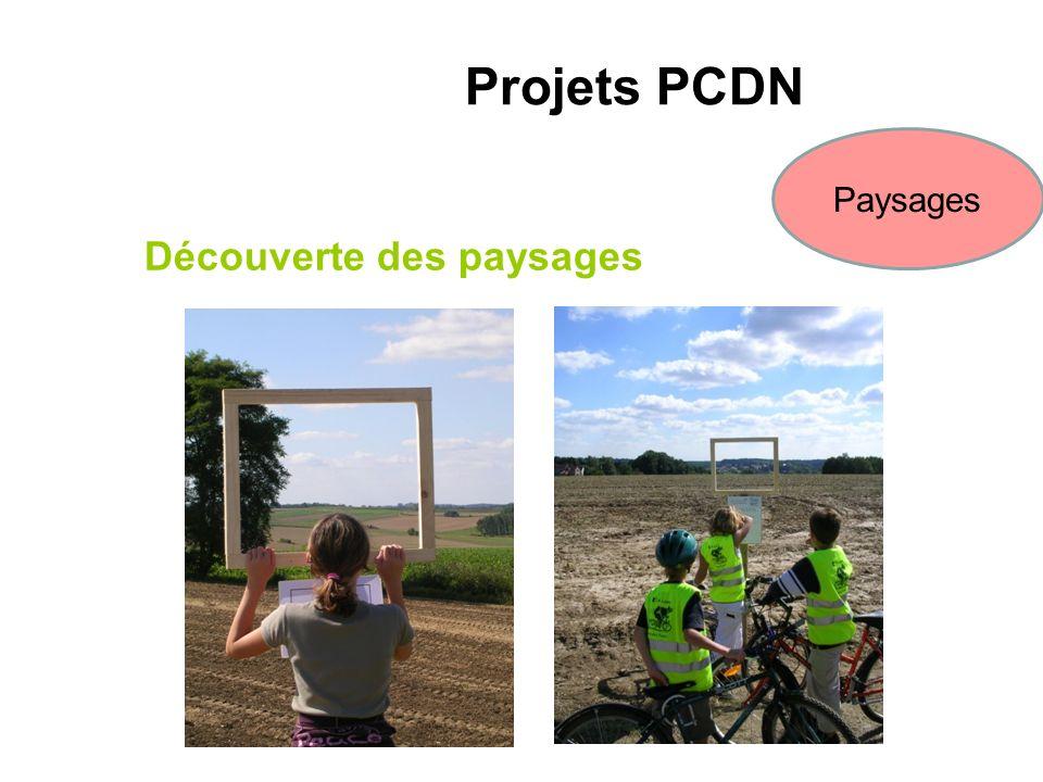Découverte des paysages Projets PCDN Paysages