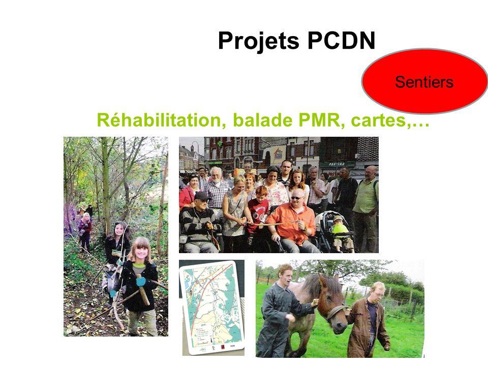 Réhabilitation, balade PMR, cartes,… Projets PCDN Sentiers