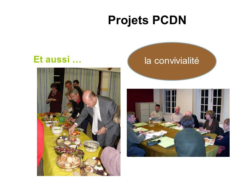 Et aussi … Projets PCDN la convivialité