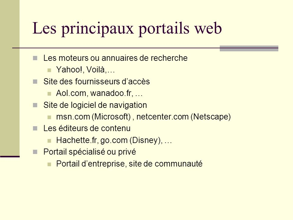 Exemples de portail JETSPEED return