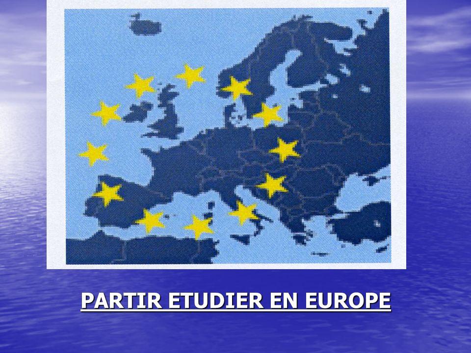 PARTIR ETUDIER EN EUROPE