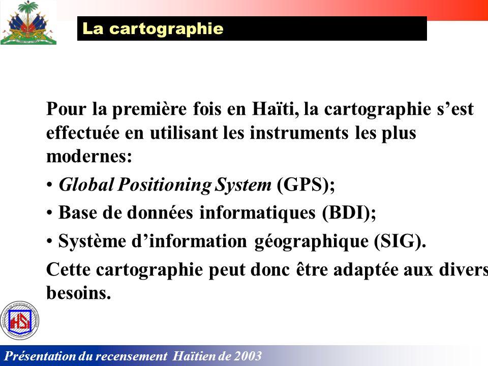 Présentation du recensement Haïtien de 2003 Cet arrêté comporte, entre autres, des dispositions visant : a) Les questions dorganisation b) La soupless