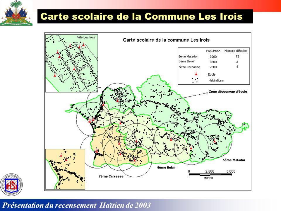 Le couplage de la cartographie digitalisée avec les données du recensement permet de mettre à la disposition des décideurs un système dinformations géographiques.