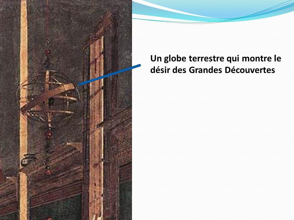 Un globe terrestre qui montre le désir des Grandes Découvertes
