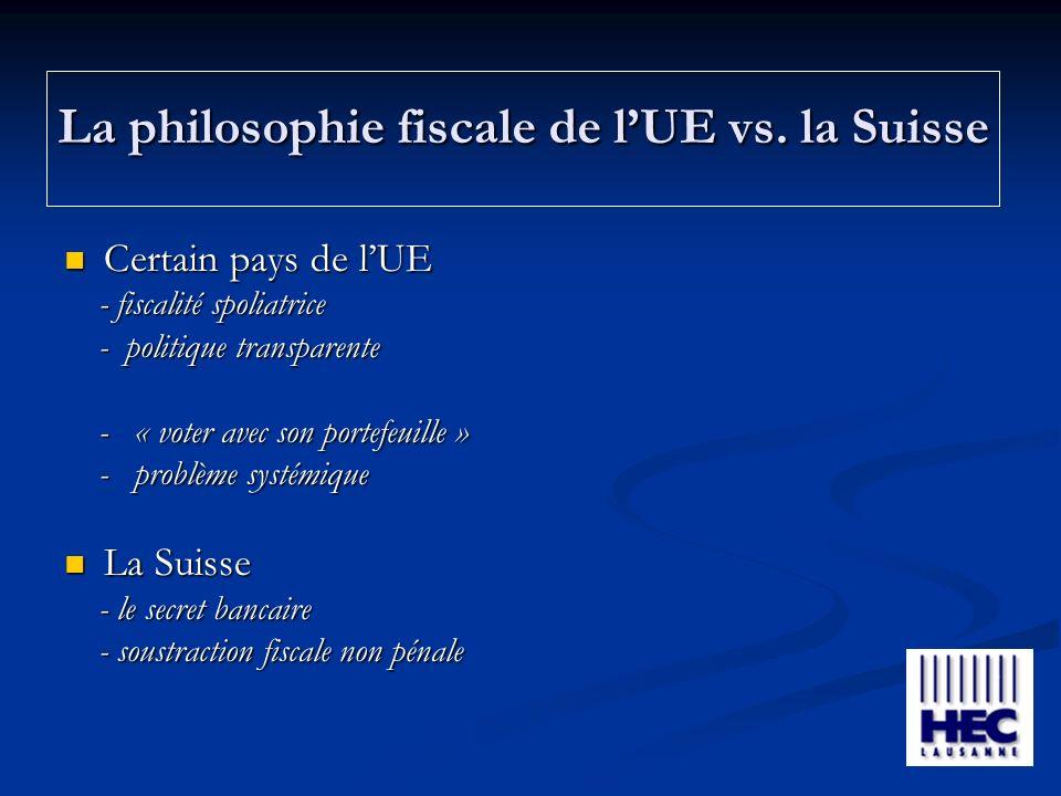La philosophie fiscale de lUE vs.