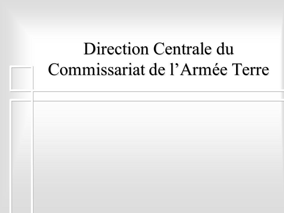 Direction Centrale du Commissariat de lArmée Terre