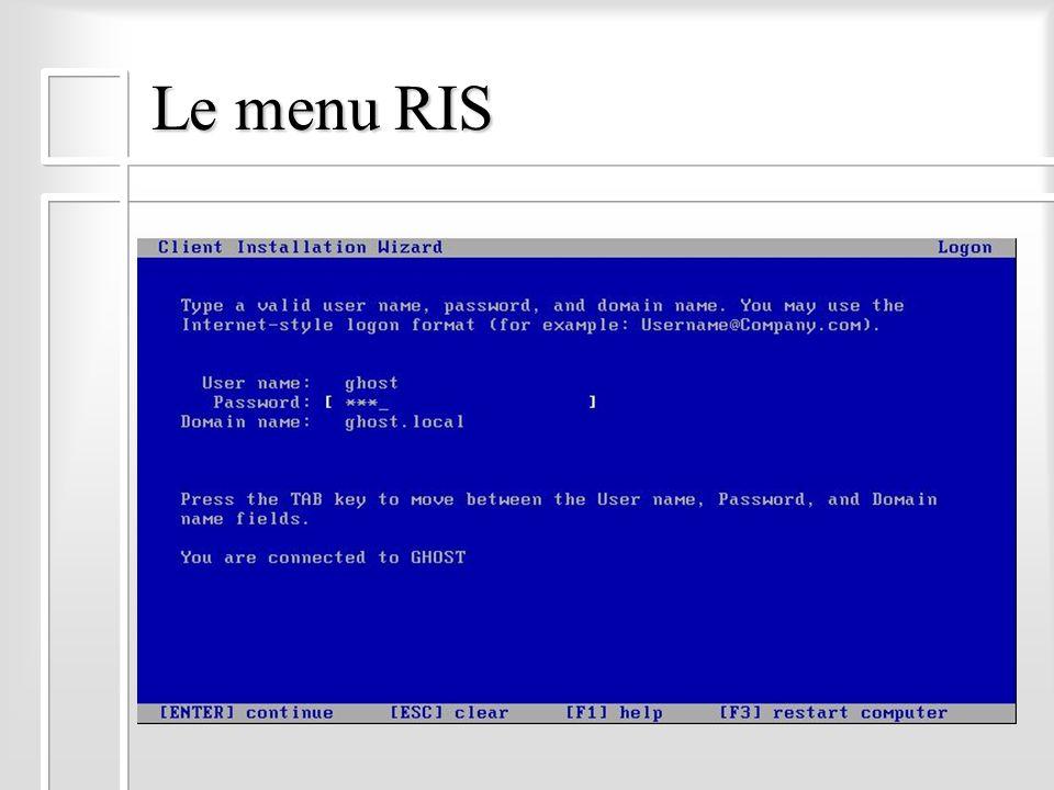 Le menu RIS SauthentifierSauthentifier