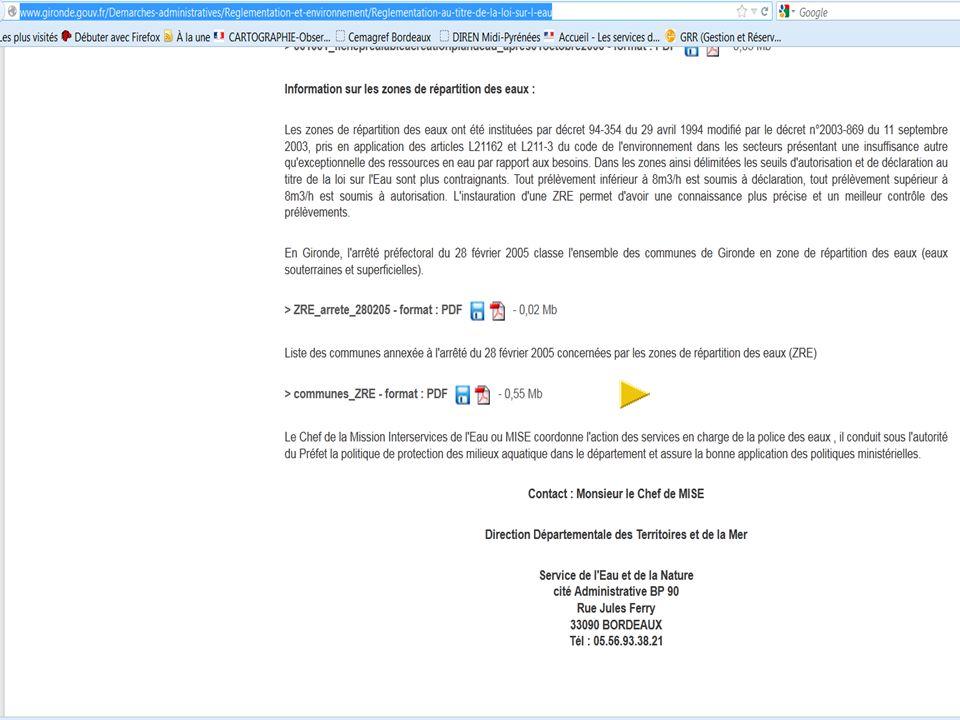 DDTM de la Gironde, MISEN 33 18