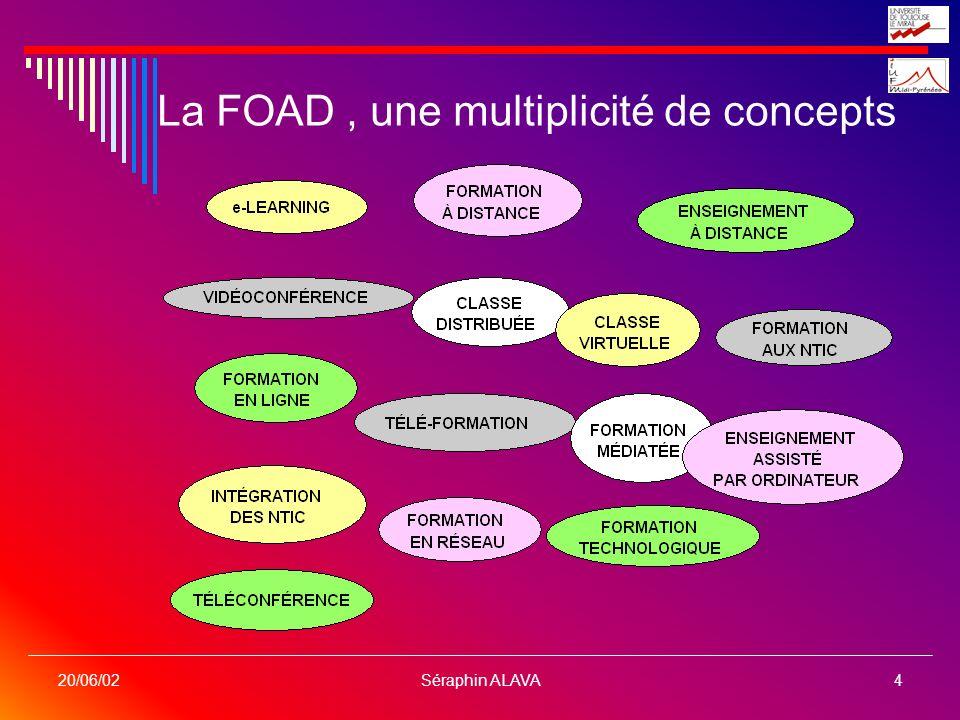 Séraphin ALAVA4 20/06/02 La FOAD, une multiplicité de concepts