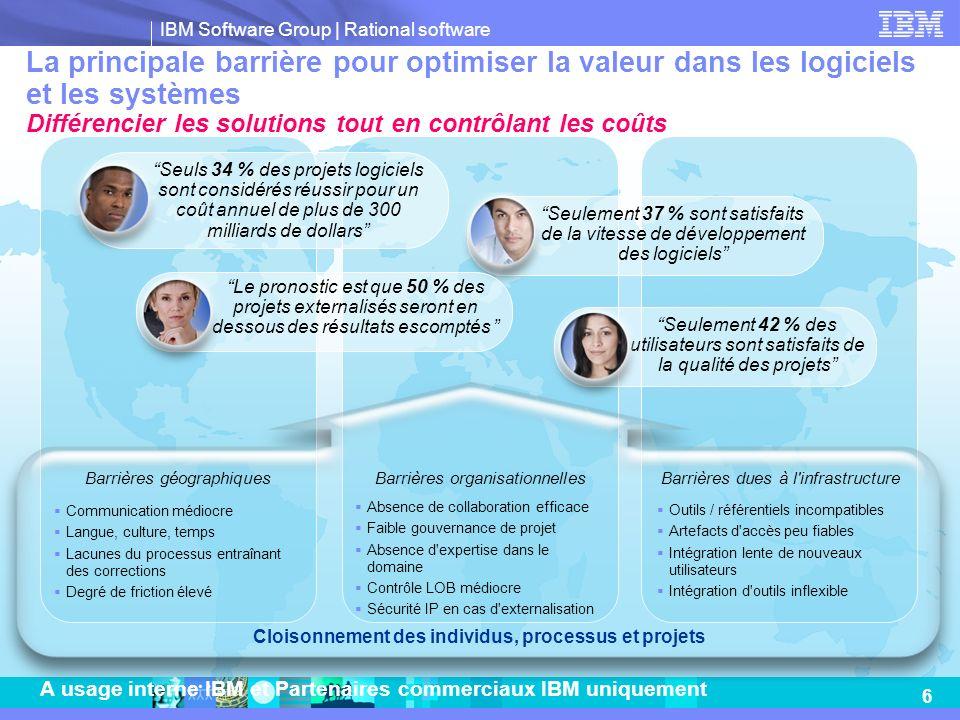 IBM Software Group | Rational software 7 A usage interne IBM et Partenaires commerciaux IBM uniquement Ce qu est Focal Point...