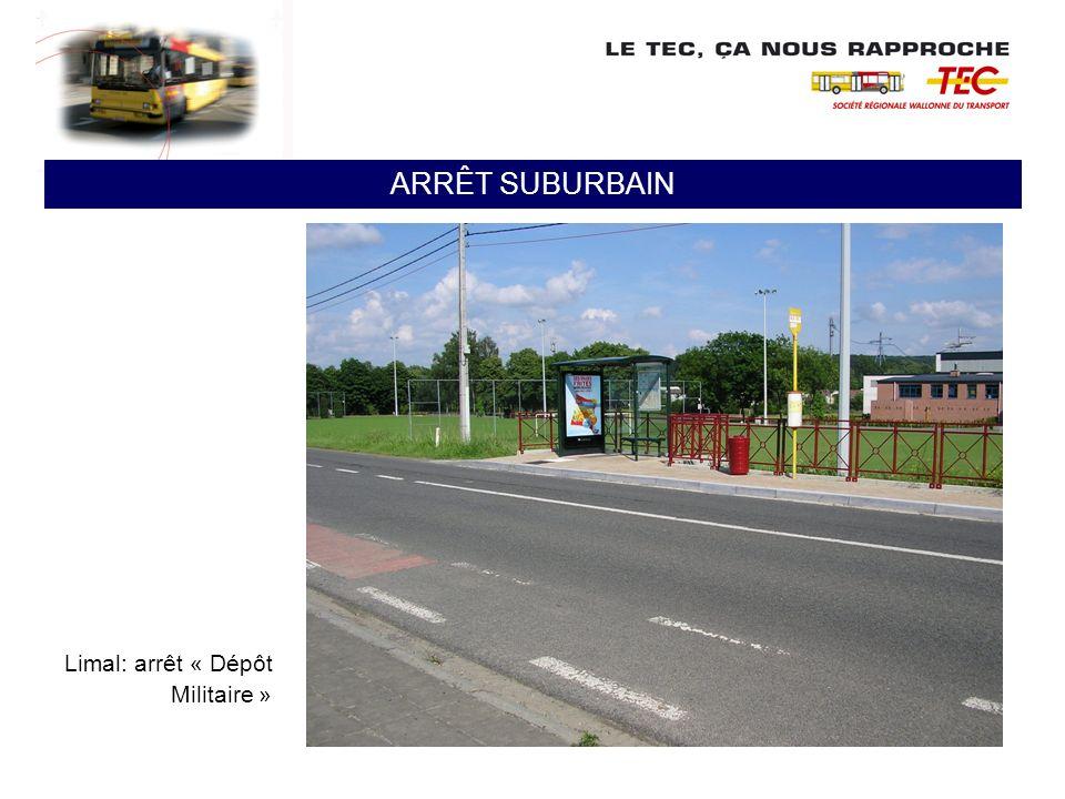 Limal: arrêt « Dépôt Militaire » ARRÊT SUBURBAIN