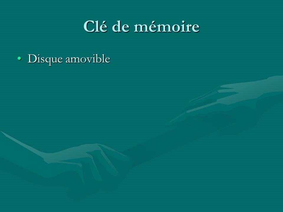 Clé de mémoire Disque amovibleDisque amovible