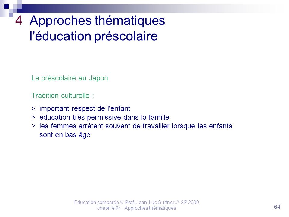 Education comparée /// Prof.