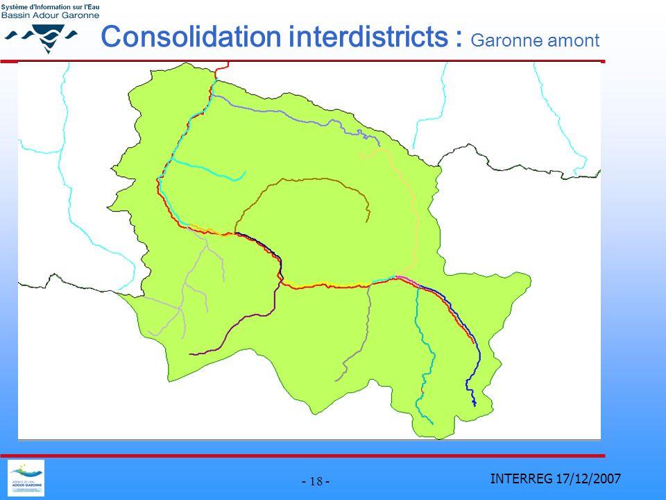 INTERREG 17/12/2007 - 18 - Consolidation interdistricts : Garonne amont
