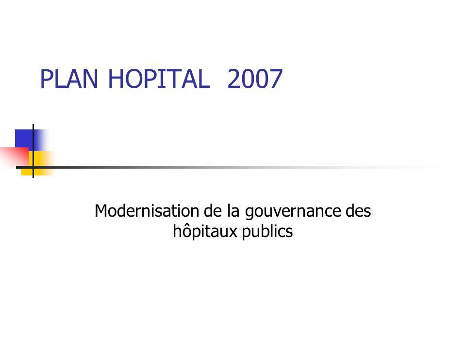 PLAN HOPITAL 2007 Modernisation de la gouvernance des hôpitaux publics