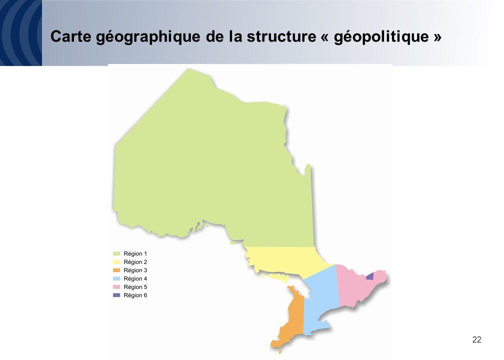 22 Carte géographique de la structure « géopolitique »