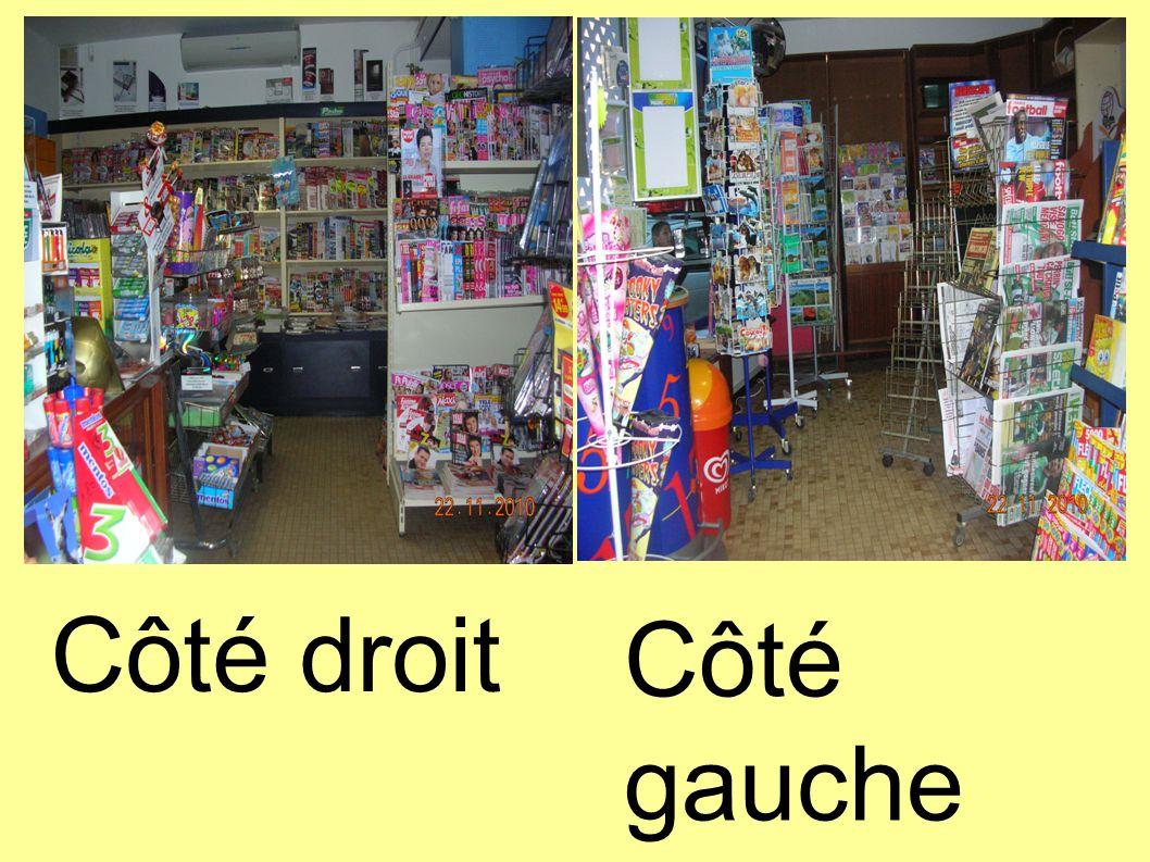 Côté droit Côté gauche