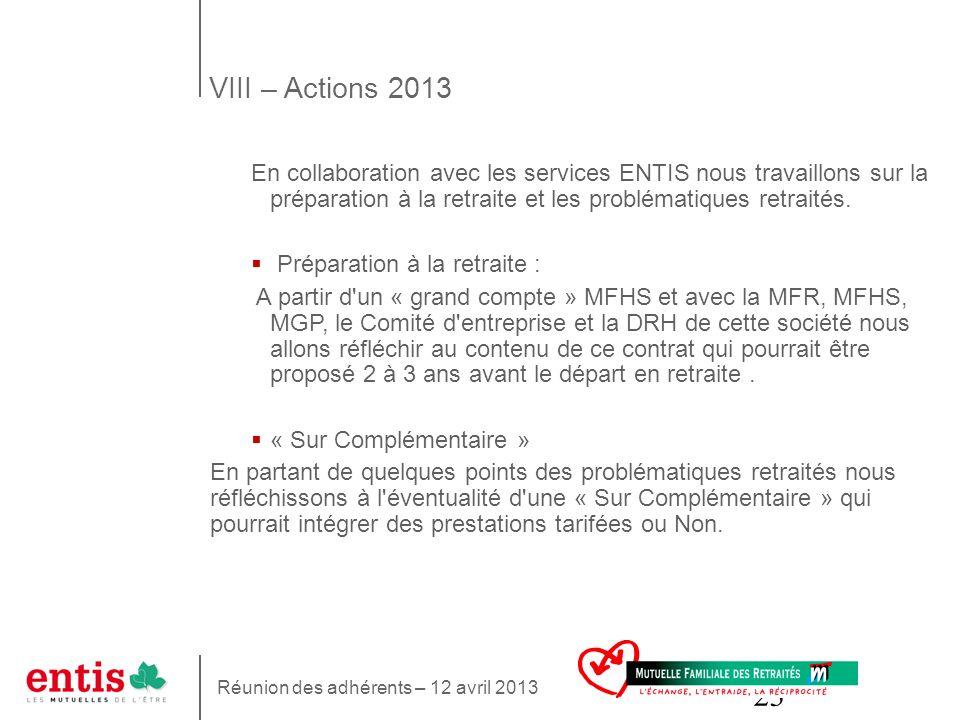 23 En collaboration avec les services ENTIS nous travaillons sur la préparation à la retraite et les problématiques retraités. Préparation à la retrai