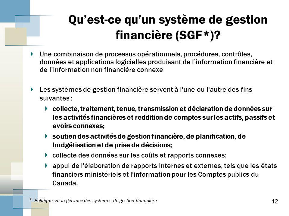 12 Quest-ce quun système de gestion financière (SGF*).