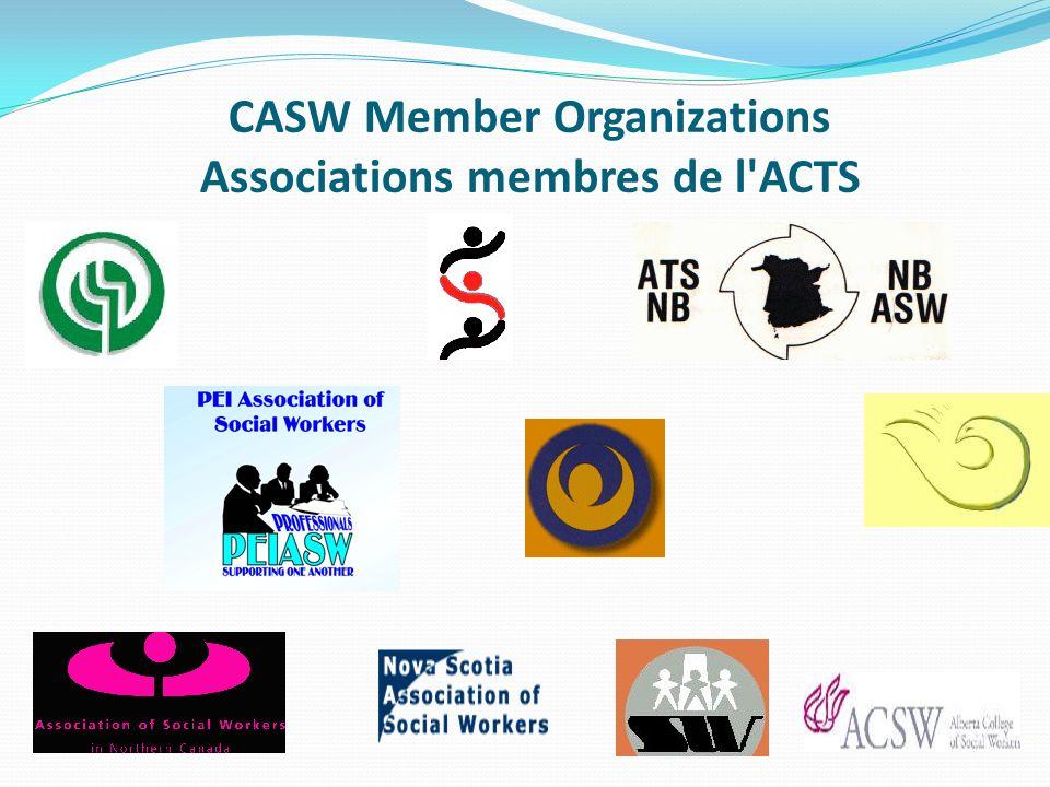 CASW Member Organizations Associations membres de l'ACTS
