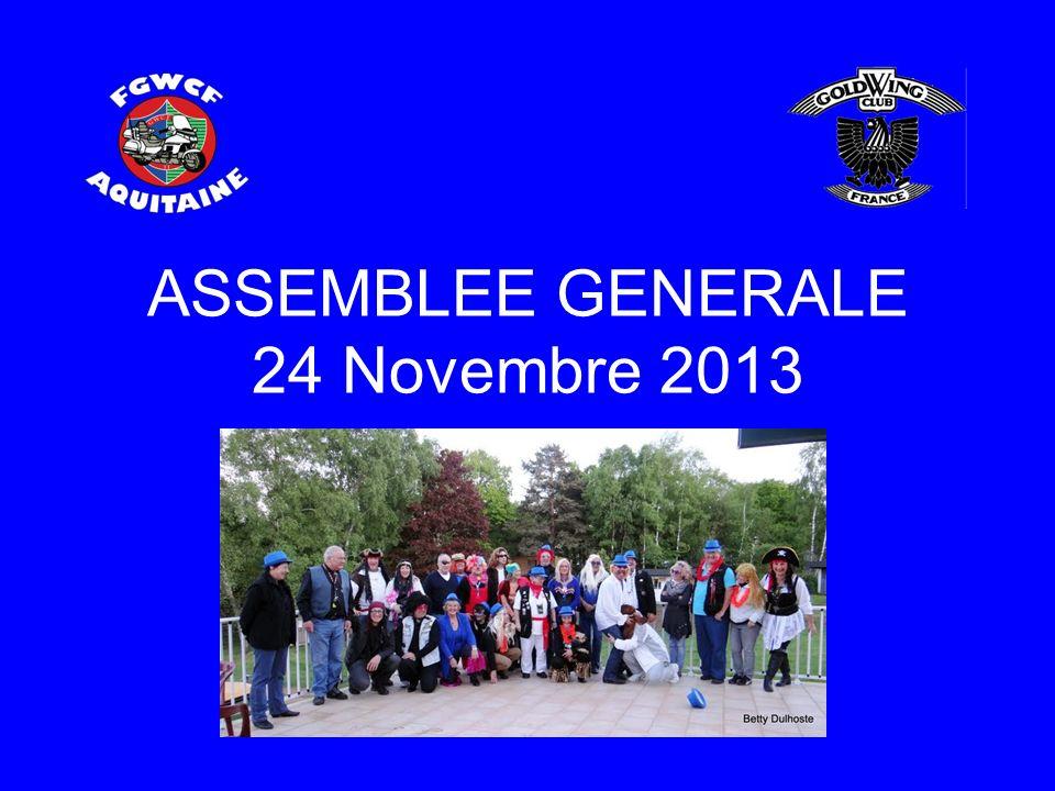 ASSEMBLEE GENERALE 24 Novembre 2013