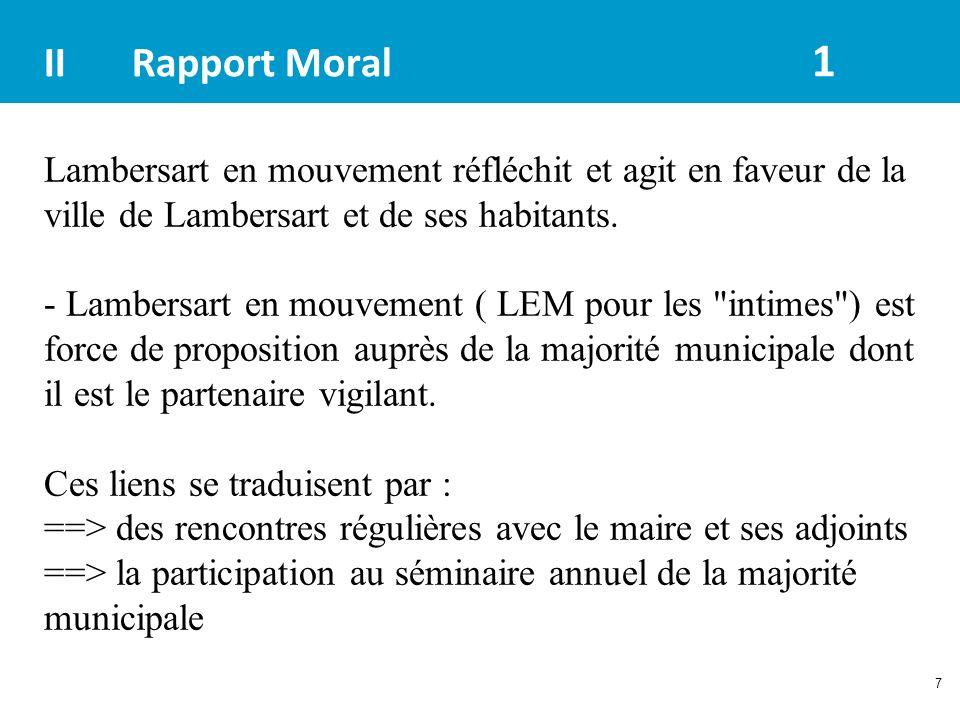 7 IIRapport Moral 1 Lambersart en mouvement réfléchit et agit en faveur de la ville de Lambersart et de ses habitants. - Lambersart en mouvement ( LEM