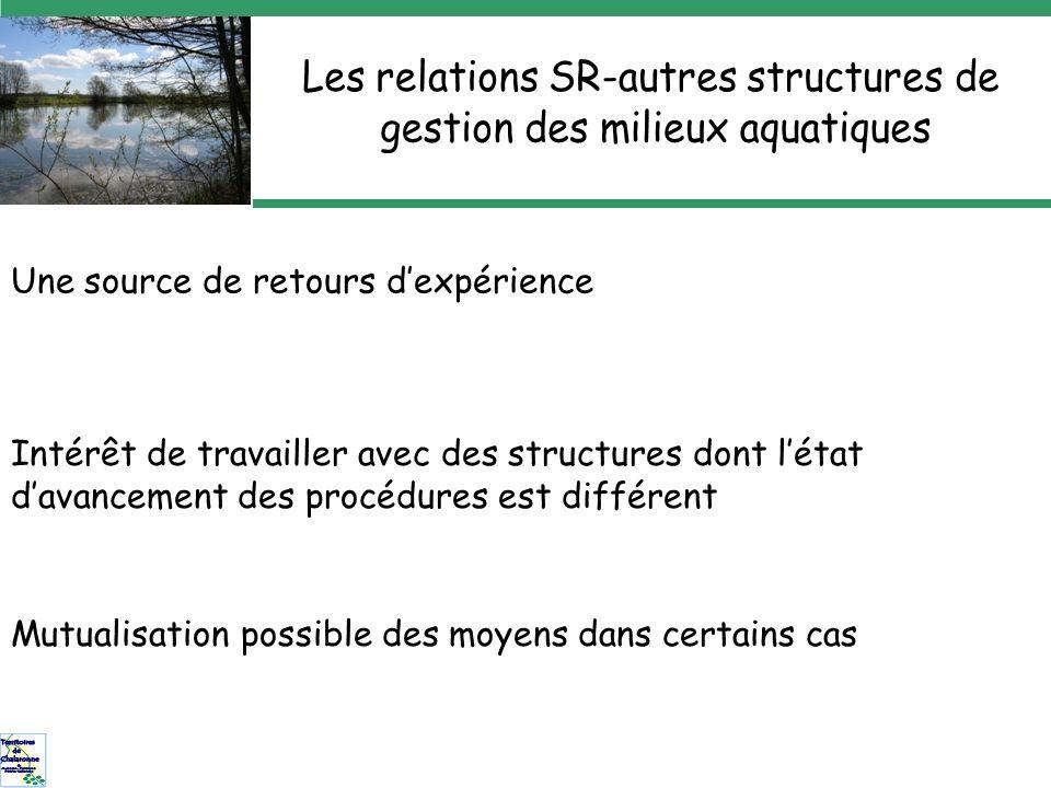 Une source de retours dexpérience Intérêt de travailler avec des structures dont létat davancement des procédures est différent Mutualisation possible des moyens dans certains cas