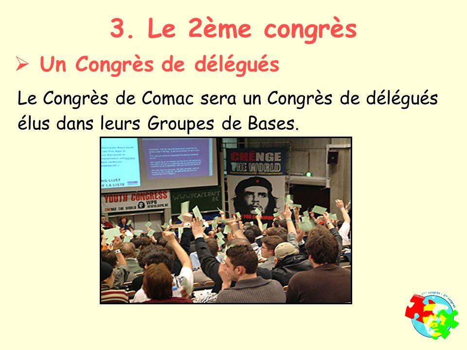 Le Congrès de Comac sera un Congrès de délégués élus dans leurs Groupes de Bases.