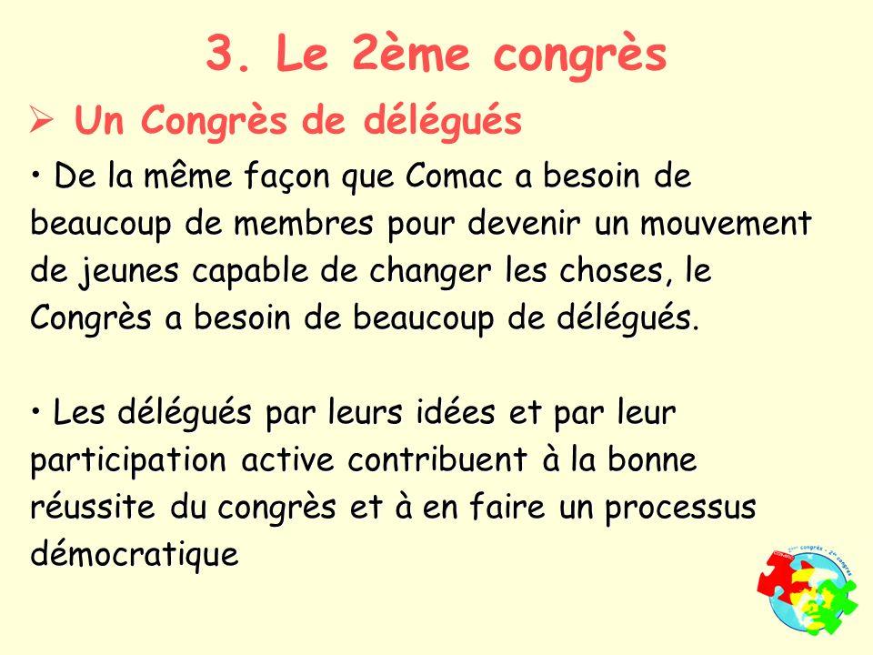 De la même façon que Comac a besoin de beaucoup de membres pour devenir un mouvement de jeunes capable de changer les choses, le Congrès a besoin de beaucoup de délégués.