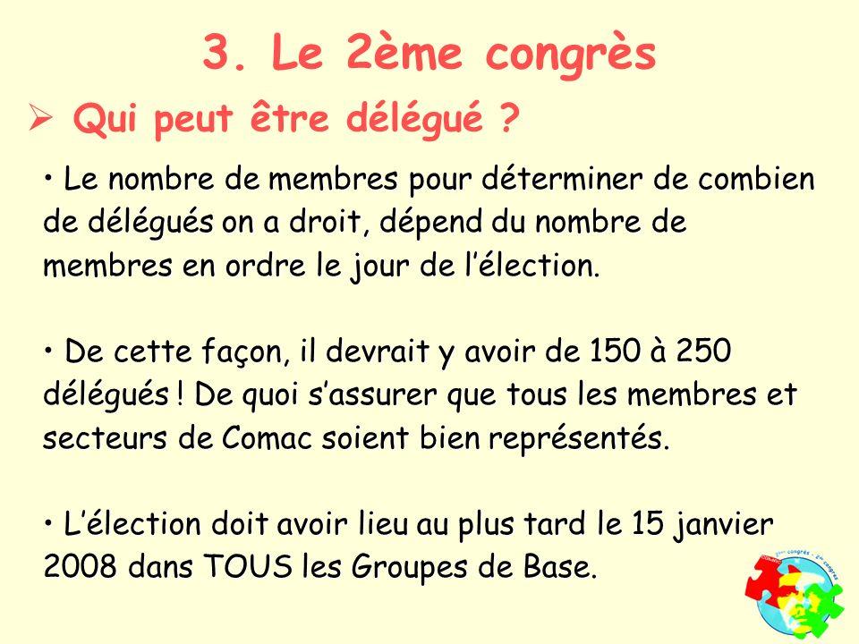 Le nombre de membres pour déterminer de combien de délégués on a droit, dépend du nombre de membres en ordre le jour de lélection.