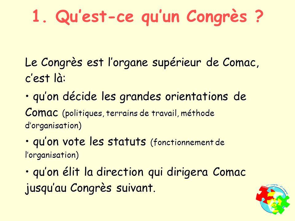 1. Quest-ce quun Congrès .