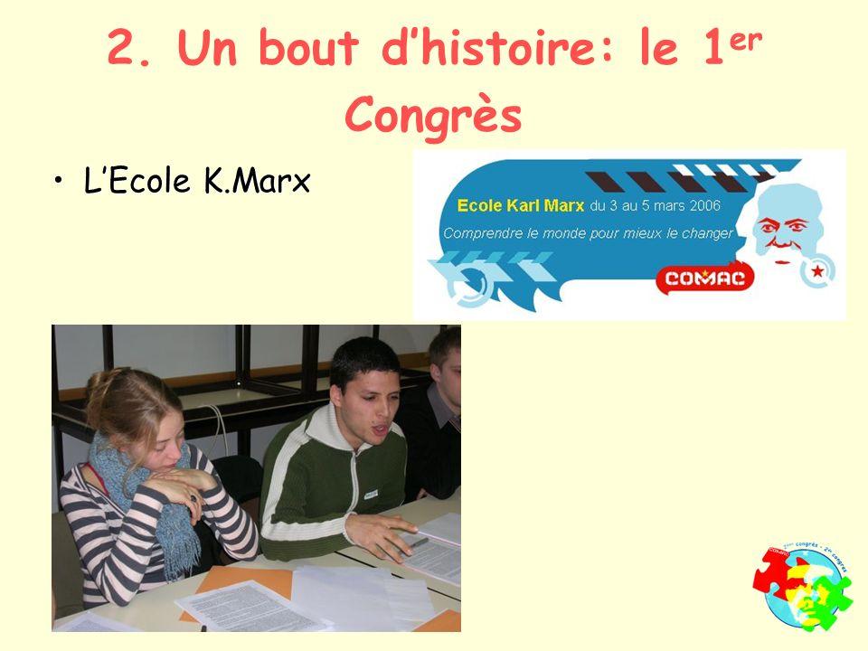 LEcole K.MarxLEcole K.Marx 2. Un bout dhistoire: le 1 er Congrès