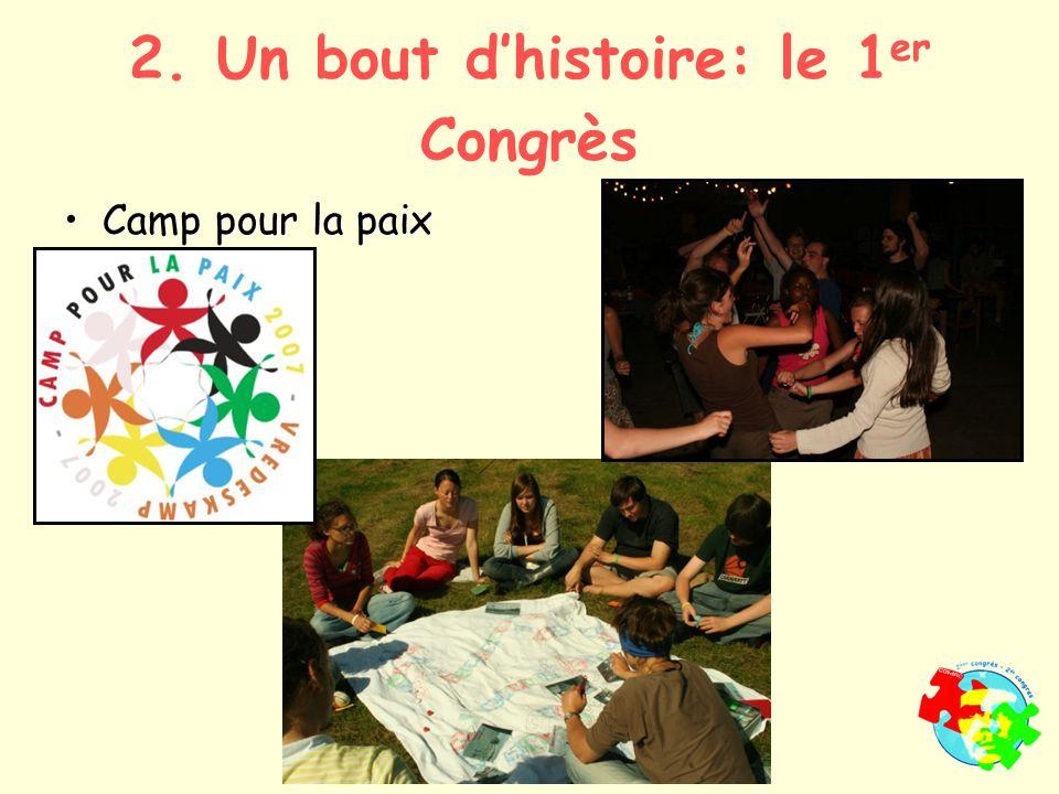 Camp pour la paixCamp pour la paix 2. Un bout dhistoire: le 1 er Congrès