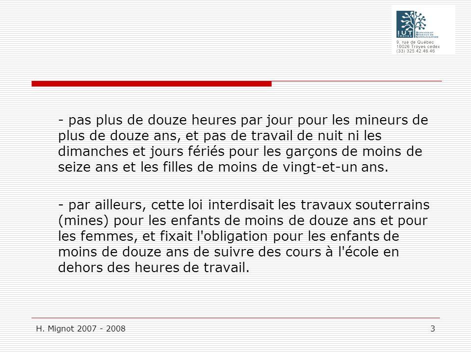 H.Mignot 2007 - 2008 104 G : Entretien préalable Le salarié doit assister à l entretien.