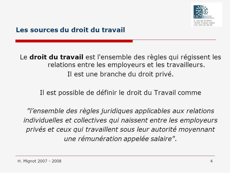 H.Mignot 2007 - 2008 185 E : Conseil des prudhommes : qui juge .