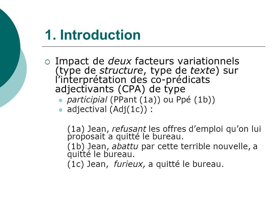 1.1.Le type de structure co-prédicative adjectivante.