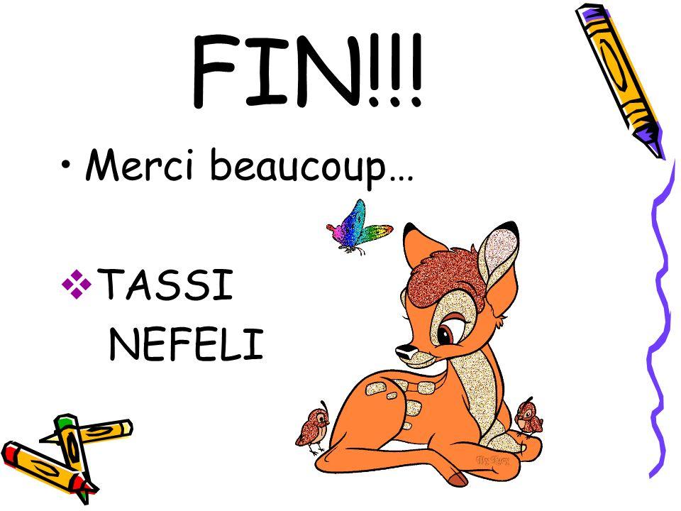 FIN!!! Merci beaucoup… TASSI NEFELI