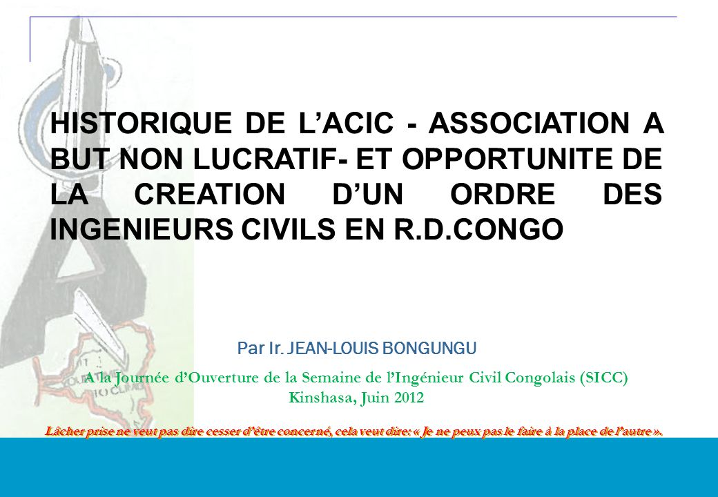 1 DRAFT Get up, dear DRC.Fully supported by ACIC, its your time to climb.