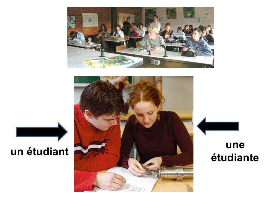 une étudiante un étudiant