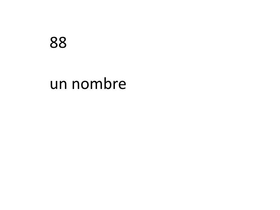 88 un nombre