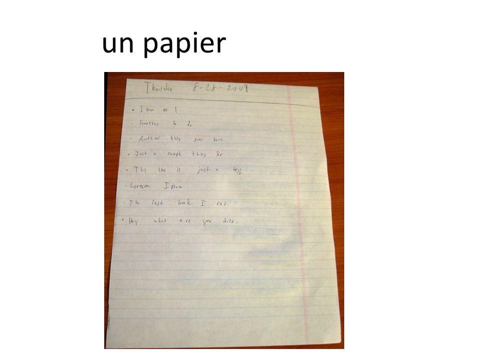 un papier