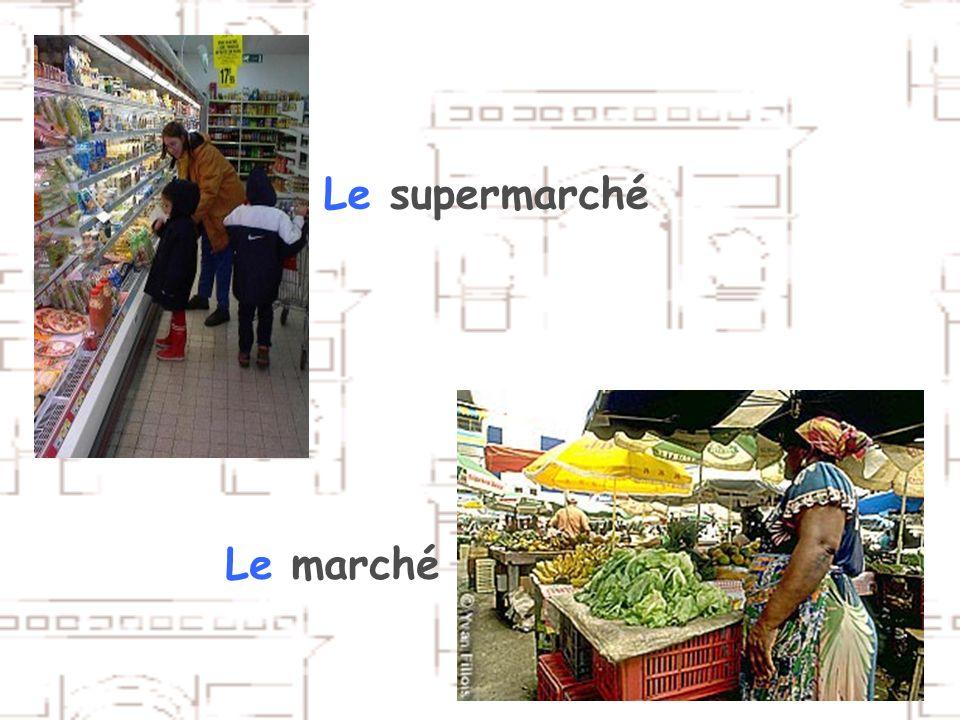 Le supermarché Le marché