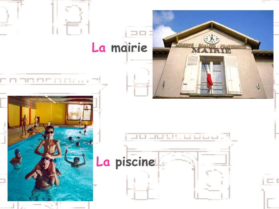 La gareLa bibliothèque La mairieLa piscine