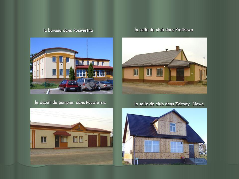 le dépôt du pompier dans Poswietne le dépôt du pompier dans Poswietne le bureau dans Poswietne la salle de club dans Pietkowo. la salle de club dans Z