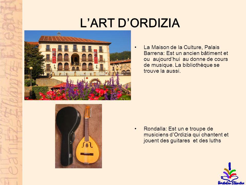 LART DORDIZIA La Maison de la Culture, Palais Barrena: Est un ancien bâtiment et ou aujourdhui au donne de cours de musique. La bibliothèque se trouve